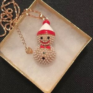 Snowman Christmas necklace 28 in Betsey Johnson